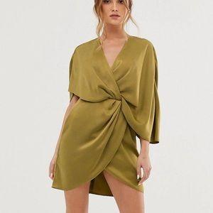 ASOS kimono style olive dress